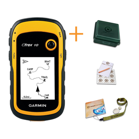Garmin eTrex 10 + Geocaching Kit